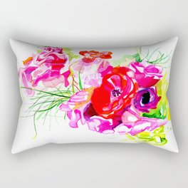 pink aloha lei Rectangular Pillow
