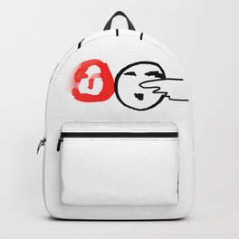 Man Pointing to Heads Backpack