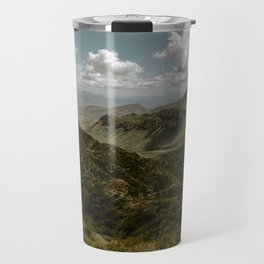 Cloudy Vibrant Mountaintop View in Big Bend - Lost Mine Trail Travel Mug