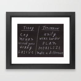 Today/Tomorrow Framed Art Print