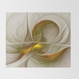 Abstract With Colors Of Precious Metals 2 Throw Blanket