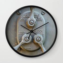 Vintage switch unit Wall Clock