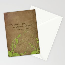 Weeds, Unloved Flowers Stationery Cards