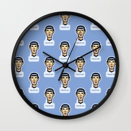Fascinating vulcan spock - science fiction - movie quote - geek humor Wall Clock