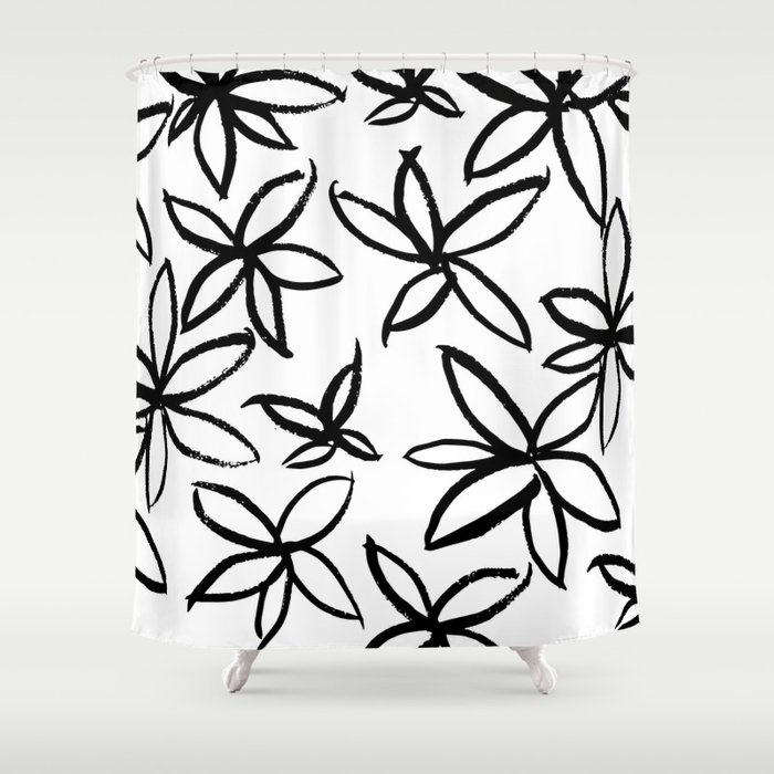 Big Floral Shower Curtain