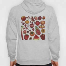Red Food Hoody