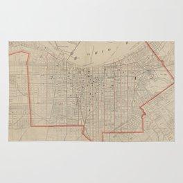 Vintage Map of Louisville KY (1880) Rug