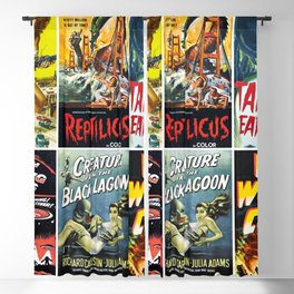 50s Sci-Fi Movie Poster Collage #1 Blackout Curtain