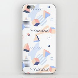 PASTEL AND COOL TONE RETRO GEOMETRIC PATTERN iPhone Skin
