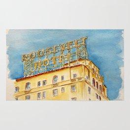 The Hollywood Roosevelt Hotel - Golden Era Icon on Hollywood Blvd Rug