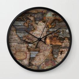 Reclaimed Map Wall Clock