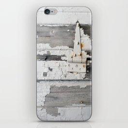 Hinge on Vintage Door iPhone Skin