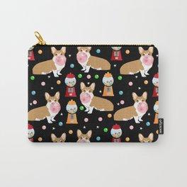 Corgi bubblegum cute pet portrait custom dog breed art pattern by pet friendly Carry-All Pouch