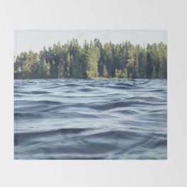 Summer Forest Lake Throw Blanket