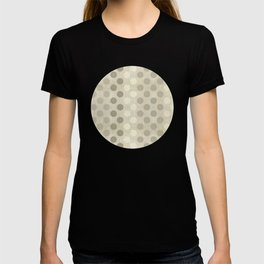 """Nude Burlap Texture and Polka Dots"" T-shirt"