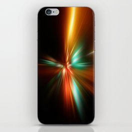 abstract acceleration speed motion on night road iPhone Skin