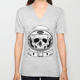 space  skull Unisex V-Neck