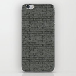 Grey Stone Bricks Wall Texture iPhone Skin