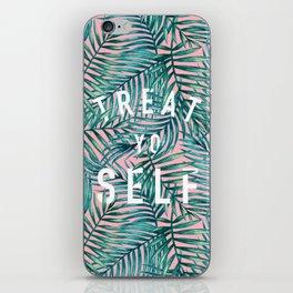 Treat Yo Self (Palm Print) iPhone Skin