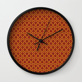 The Overlook Hotel Carpet Wall Clock