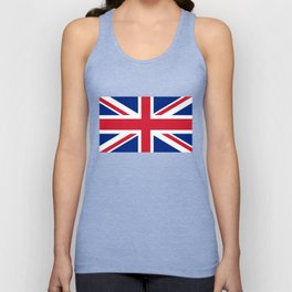 UK FLAG - The Union Jack Authentic color and 3:5 scale  Unisex Tank Top