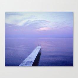 Long Dock Coastal Potography Canvas Print