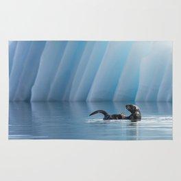 Playful Sea Otter Rug