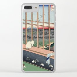 Utagawa Hiroshige Japanese Woodblock Cat Print Clear iPhone Case