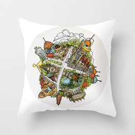 Tiny Planet Throw Pillow