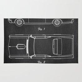 Pontiac GTO patent print. Pontiac GTO chalkboard poster Rug