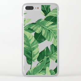 Tropical banana leaves IV Clear iPhone Case