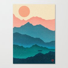 Meditating Samurai Canvas Print