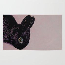 Black Bunny Rug