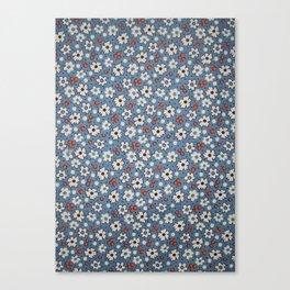 Floral Fabric Canvas Print