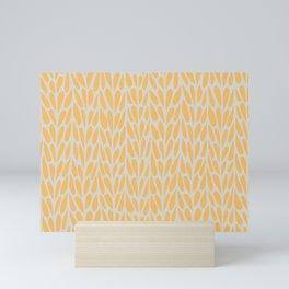 Citrus summer pattern yellow Mini Art Print