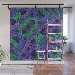 Green and purple film ribbons Wall Mural