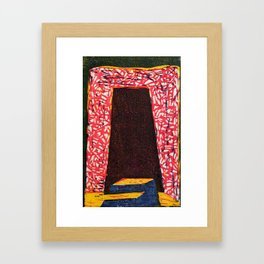 Doorstep Woodcut Framed Art Print
