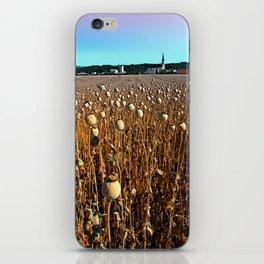 Poppy fields with a sunburn iPhone Skin
