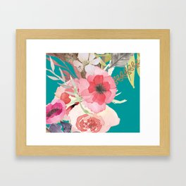 Flowers , floral , shabby chic décor,  flower decor , Framed Art Print
