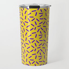 Shiny Yellow Memphis Travel Mug