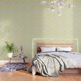 Lemon pattern White Wallpaper