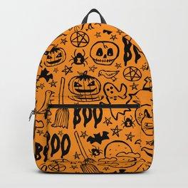 Spooky Pattern - Orange Backpack