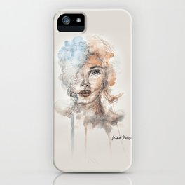 Watercolor Portrait iPhone Case