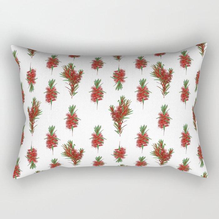 Australian Native Bottlebrush Pattern Rectangular Pillow