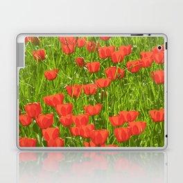 tulips field Laptop & iPad Skin