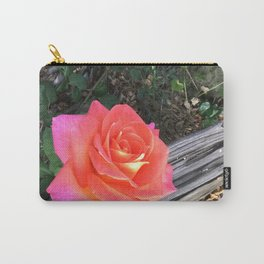 Rose On a fence Carry-All Pouch