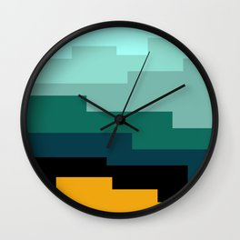 Summer 2016 In Turquoise Wall Clock