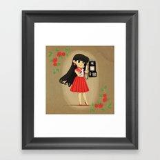 Retro Sailor Mars Framed Art Print