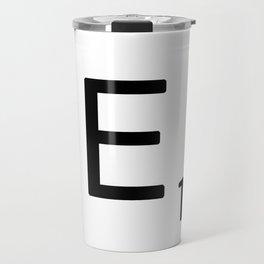Letter E - Custom Scrabble Letter Wall Art - Scrabble E Travel Mug