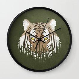Hiding Tiger Wall Clock